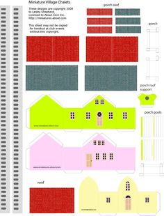 Printable Miniature N Scale Village Church and Bungalows: Assemble the Materials to Make A Miniature Church or Bungalows