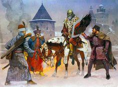 Siege of Pskov, 1581 • Lithuanian infantryman • Hungarian Haiduk officer, 1577 • Hussar 'Comrade', 1560-1590 • Hungarian Haiduk infantryman, 1577