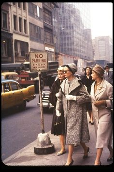 Grace Kelly walking in New York with her mother, photographed by Lee Lockwood, 1959.