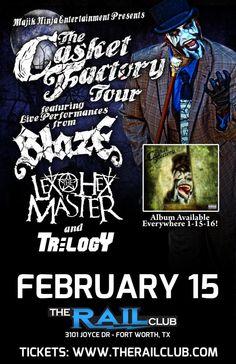 February 15, 2016 @ Rail Club - Blaze | Lex The Hex Master | Trilogy