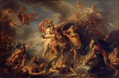 """""""Fury of Achilles"""" by Charles-Antoine Coypel, 1737."""
