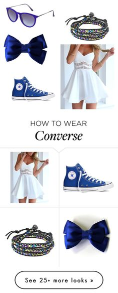 """Blue.."" by doctor-is-my-bae on Polyvore featuring Converse, AeraVida and Topshop"