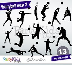 Volleyball Men 2, instant download, PNG, JPG, SVG, eps files Ps-168