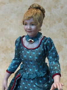 Miniature Dollhouse Doll in 1:12 Scale/Victorian Lady