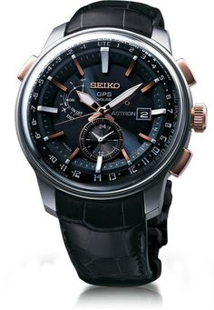 Seiko Astron Watch GPS Solar Chronograph S #bezel-fixed #bracelet-strap-leather  -- #SSDvsHDD for free? Here are some -- http://www.ssd-hdd.info/