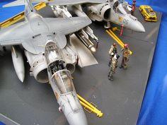 AV-8B Harrier Plus Diorama by Peter Van Buren (Hasegawa 1/48)