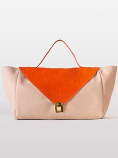 The Leather Envelope Case in Natural / Burnt Orange by #AmericanApparel.  #leather #purses #accessories