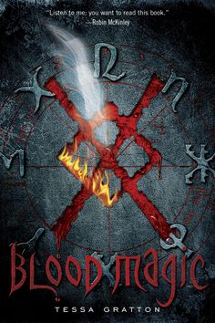 Blood Journals book #1  For Mab Prowd, blood magic is as natural as breathing. She spends her days on a secluded Kansas farm with other blood witches, practicing spells for healing.  Wild and confident, Mab uses magic to understand her entire world. But when one of Mab's spells mistakenly taps into a powerful, long-dormant curse, she finds her magic spinning out of control.