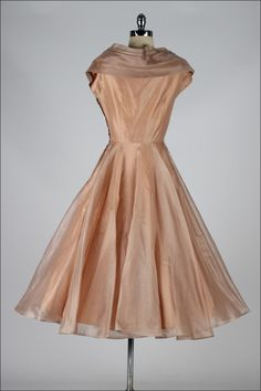 Vintage 1950's Organza and Lace Cocktail Dress image 7
