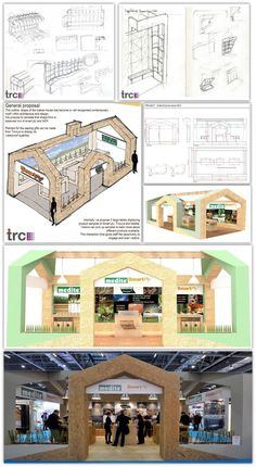 How we took a simple sketch idea & turned it into an Award Winning stand that wine the Best in Show Sustainable exhibition stand at Ecobuild, 2013, for our Client Coillte & using their sustainable Medite product. The stand went on to be used at Ecobuild again in 2014, and was resumed at other exhibitions. Truly sustainable. #exhibitionstand #3d #Design