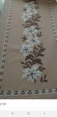 Cross Stitch Flowers, Bottle Crafts, Cross Stitch Designs, Crochet Flowers, Table Runners, Textiles, Embroidery, Cross Stitch Alphabet, Herb