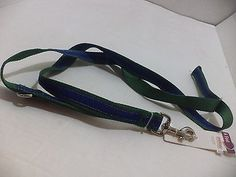 Petco Colors Blue & Green Strip Dog Leash Size Medium/Large 6' L X 1 W