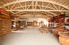 The Salvage Works Reclaimed Lumber Warehouse. Open to the public 7 days a week! 2024 N Argyle St. Portland, OR 97214 Custom Wood Furniture, Wall Cladding, Reclaimed Barn Wood, At Home Store, Warehouse, Barns, Portland, Kitchen Remodel, Restaurants