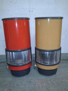 Retro potkachels etna maxigas jaren 70 in diverse kleuren. Ik had een rode op mijn kamer.