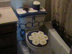 Crochet Bathroom Covers