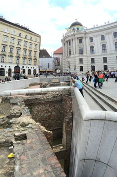 In front of the Hofburg is a two story deep excavation of the Roman underbelly of Vienna. My tour guide said there are some buildings with cellars that go down four or more stories.