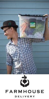 Great news in Houston, TX! Farmhouse Delivery is here. Hope this guy makes every vegetable delivery. :)