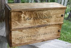 Double wine box, anniversary / wedding ceremony box.#weddingwinebox #woodbox