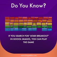"If You Search For ""ATARI BREAKOUT"" in Google Image, YouCan Play The Game. #DYN #FACTS #TRIVIA #TIL #DIDYOUKNOW #NOWIKNOW #like4like #follow4follow #tahukahkamu #tahukahanda #wowfakta #fakta #faktanya #paidpromote #cinta #love #indonesia #unik #kocak #komedi #travel #info #informasi #pengetahuan #awesome #atari #ataribreakout #cool #google Atari Breakout, Your Search, Travel Info, Trivia, Did You Know, Like4like, Internet, Facts, Play"