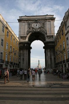 PORTUGAL - Baixa - The area had to be rebuilt after an earthquake in 1755.  It's a great place for dining and shopping.