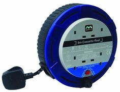 Masterplug SCT0510/4BL 5m 4 Socket 10 Amp Small Cassette Reel with Thermal Cut Out and Reset Button - http://www.cheaptohome.co.uk/masterplug-sct05104bl-5m-4-socket-10-amp-small-cassette-reel-with-thermal-cut-out-and-reset-button/