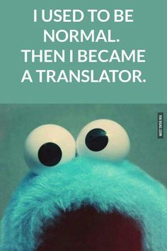 I used to be normal. Then I became a translator.