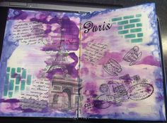 I was so excited and inspired during my class when I created this. I call it 'Paris' Medium Blog, Art Journal Pages, Mixed Media Art, My Arts, Paris, Inspired, Inspiration, Biblical Inspiration, Montmartre Paris