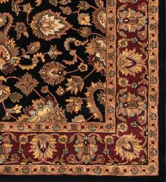 #Rugsville #Persian style Black Red 11839 #Rug