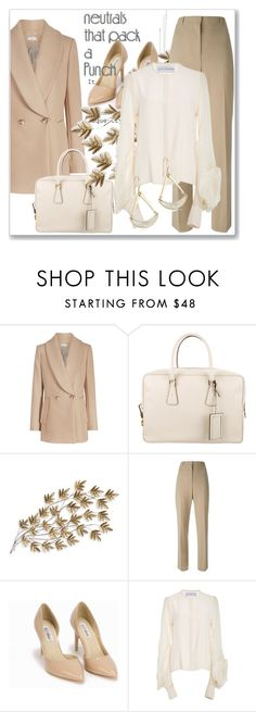 """""""Cool Neutrals"""" by andrejae ❤ liked on Polyvore featuring Prada, Home Decorators Collection, Givenchy, Nly Shoes, Robert Lee Morris, neutrals, polyvoreeditorial and polyvorecontest"""