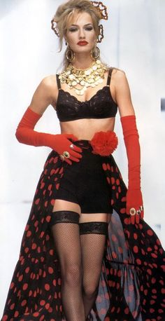 Karen Mulder for Dolce & Gabbana 1992