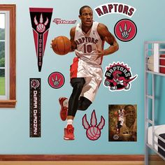 Fathead Toronto Raptors DeMar DeRozan Wall Decals, Multicolor