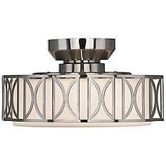 Deco Brushed Nickel Finish Pull Chain Ceiling Fan Light Kit.... $90