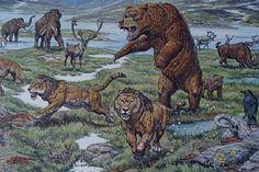 Animals of Ice Age Europe (Detail) - Mark Hallett