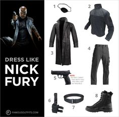S.H.I.E.L.D. Director Nick Fury, played by Samuel L. Jackson, was pushed to assemble The Avengers—a team of people with extraordinary abilities chosen to protect Earth. You can get the superhero's same look for Halloween and the silk pirate patch is just the beginning! #NickFury #menscostumes