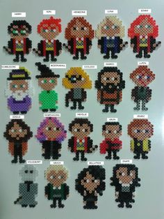 Harry Potter characters hama beads by Juan José Prieto