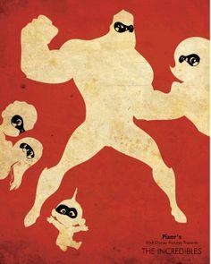 The Incredibles (2004) ~ Minimal Movie Poster by Edward Lim ~ Pixar Series