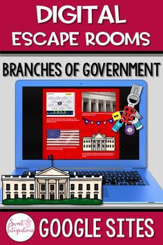 Digital EDUcational Escape Rooms are very similar to scavenger hunts. This Branches of Government Escape involves your or grade classroom or home school students to work in teams to use clues to crack multiple locks in a set amount of time. Social Studies Projects, 3rd Grade Social Studies, Social Studies Classroom, 4th Grade Classroom, Teaching Social Studies, Classroom Activities, Teaching Government, Branches Of Government, Escape Room