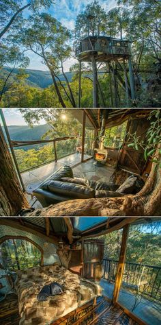 Remember the dreamy Wollemi Wilderness Treehouse on the edge of the World Heritage Blue Mountains that we featured last year? This treehouse was under maintenance in 2019, but now you can book it for a peaceful stay in the wilderness. It takes under two hours' from Sydney, Australia to reach this secret treehouse that overlooks Bowen's Creek Gorge and the World Heritage Blue Mountains. Beautiful Tree Houses, Blue Mountains Australia, Australia Travel, Sydney Australia, Whitetail Bucks, Nature Adventure, Strange Animals, Rare Animals, Architect House
