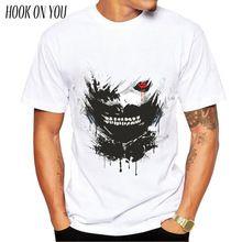 US $7.14 Japan Tokyo Ghoul printed hot anime Tokyo Ghoul t shirt clothes Ken Kaneki short-sleeve Tokyo Ghoul T-shirt men tshirt. Aliexpress product
