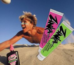 neon sunblock!!! i don't know why i remember this because i was like 3 when we had it but it was awesome and i want some now!