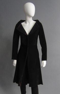 YOHJI YAMAMOTO Black Suede Coat