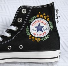 The place to buy and sell all handmade - Cute Outfits Custom Shoes, Custom Clothes, Diy Clothes, Custom Converse, Wedding Converse, Galaxy Converse, Women's Converse, Black Converse, Embroidered Clothes