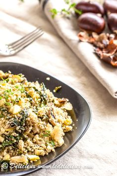 Mushroom, Chestnut and Thyme Couscous Salad