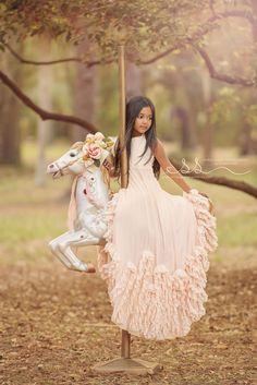 Carousel portrait session | Kissimmee FL Photographer | Dollcake dress