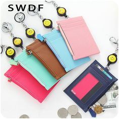 SWDF Casual Male and Female Card Holder Travel Wallet Mini Credit Card Holder Key Chain for Student Business Card Zero Wallet #Affiliate