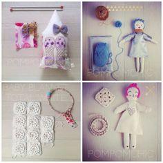 Pom ♥  Pom  Chic  : New post on my blog #handmade #ragdoll #cushion #blanket #crochet