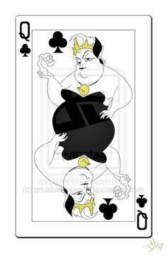 *URSULA ~ The Little Mermaid, 1989... Queen of Clubs Card by ~smallvillereject on deviantART
