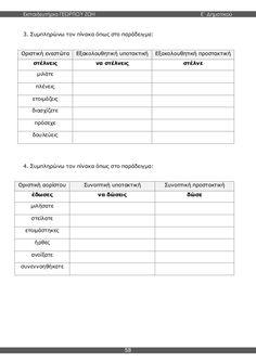 γλώσσα ε'δημοτικού β'τεύχος Grammar, Sheet Music, School, Greek, Greek Language, Music Score, Schools, Music Notes, Greece
