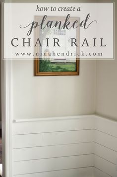 DIY Planked Wall Treatment Tutorial | Learn how to create a farmhouse-inspired wall treatment to add character to your home! http://www.ninahendrick.com/diy-planked-wall-treatment-tutorial/