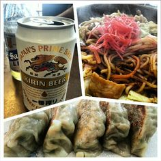 今年初めて。 #居酒屋 #螢 #焼きそば #餃子 #キリン #ビール #izakaya #yakisoba #gyoza #kirin #beer #sanmig #light #japanese #food #yummy #philippines#フィリピン